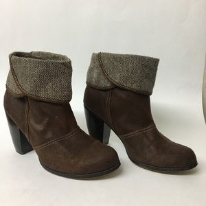 BKE Sole Cowboy Style Boots Block Heel size 9